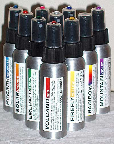 Image of Color Essences sprays available for purchase at Journey To Healing